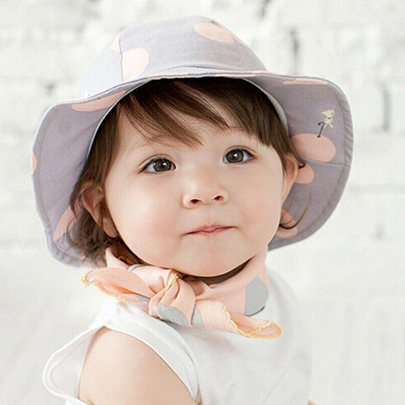 Baby Girls Sun Hat Bucket Newborn Toddler Caps Summer