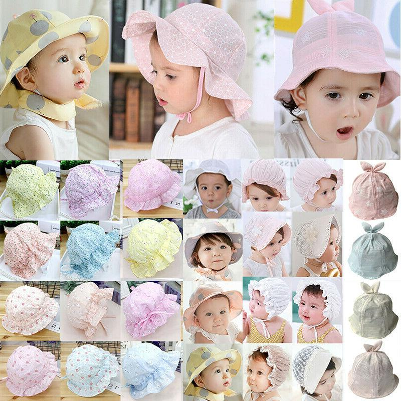 baby girls boys kids sun hat bucket