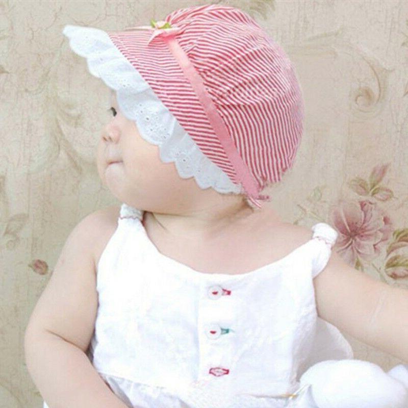 Baby lace bucket Sun Beach Bonnet Cap