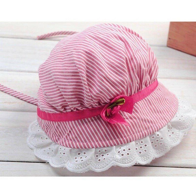 Baby Girls Flower lace bucket Hats Sun Bonnet basin Cap