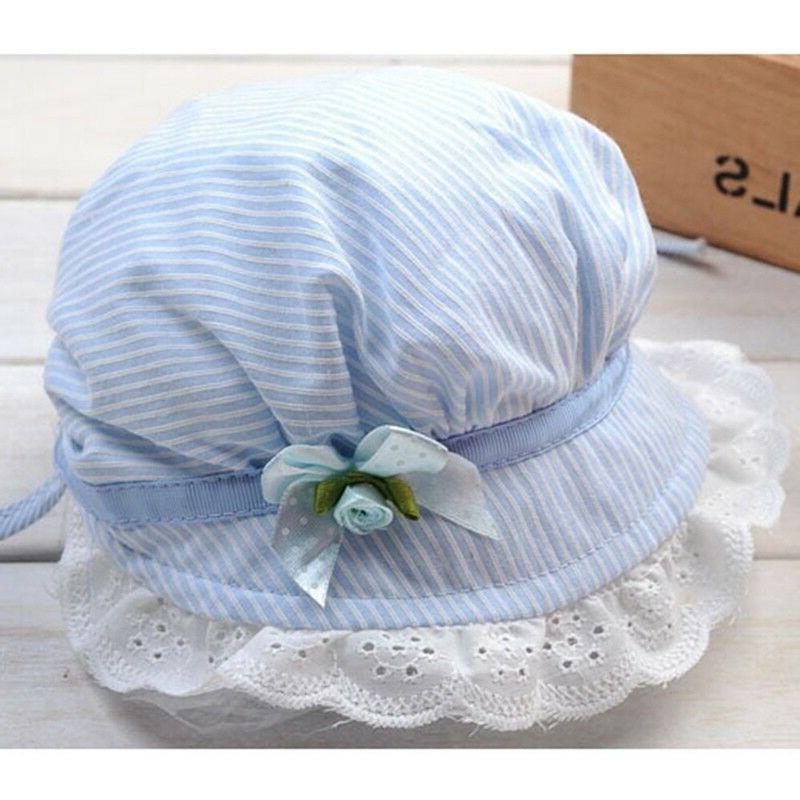 Baby Girls Flower Sun Cap