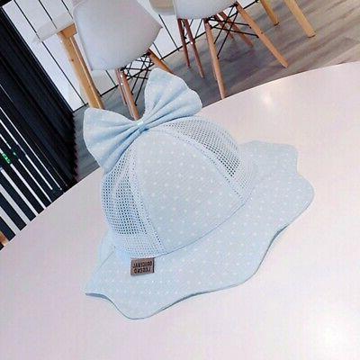 Baby Girls Toddler Reversible Bowknot Summer Headwear
