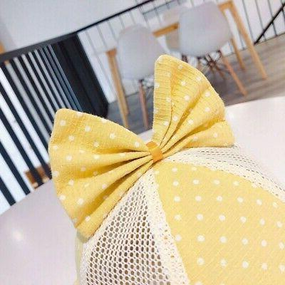 Baby Toddler Reversible Sun Bowknot Headwear