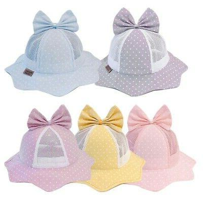 Baby Reversible Sun Hats With Bowknot