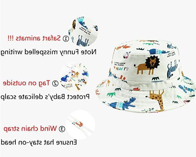 Baby Kids Play Sun Hats Bucket/Reversible