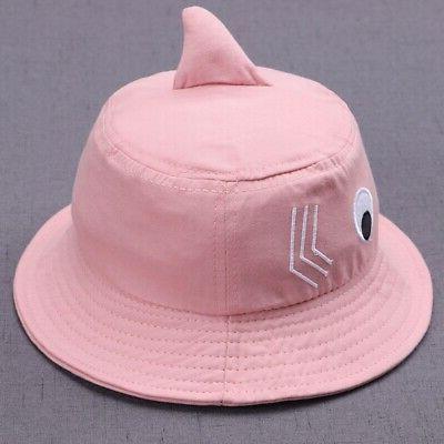 Baby Girl Cartoon Caps Reversible Sun Headwear Hat US