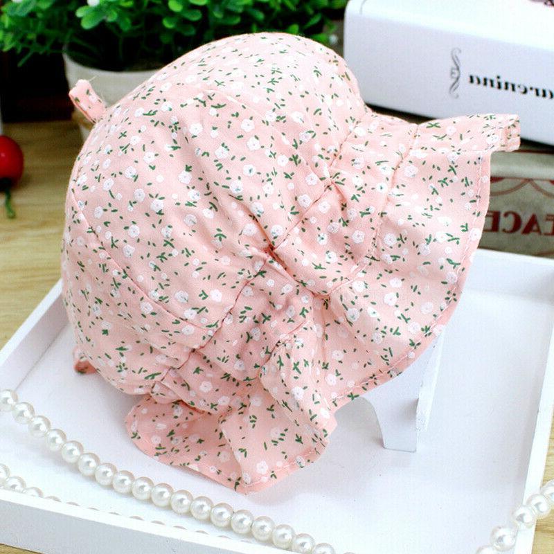 Baby Kids Girls Sun Hat Bucket Hats Lace Newborn