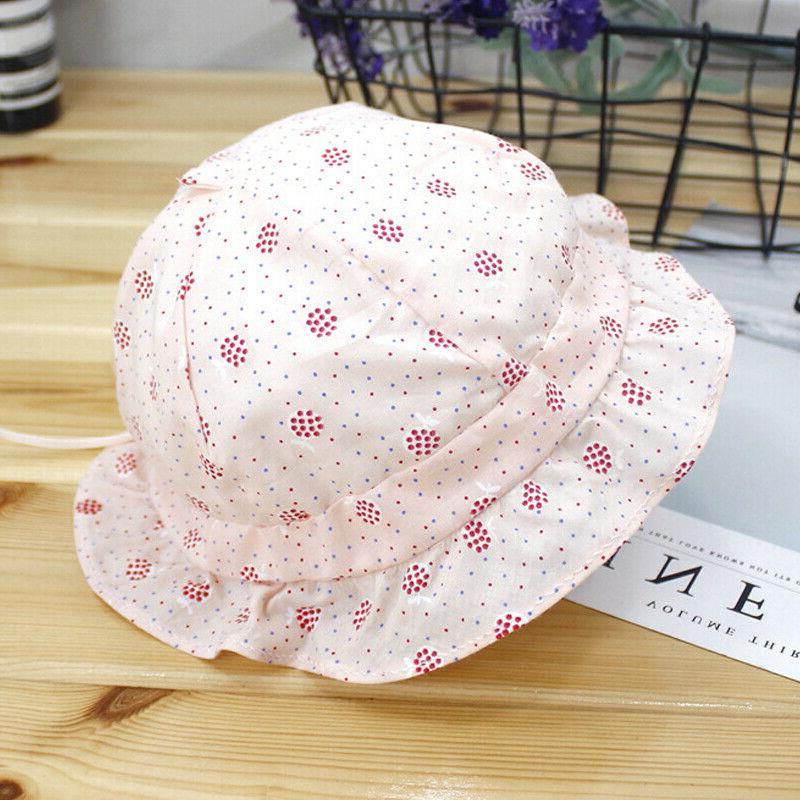 Baby Kids Girls Sun Hat Bucket Lace Princess Outdoor Bonnet