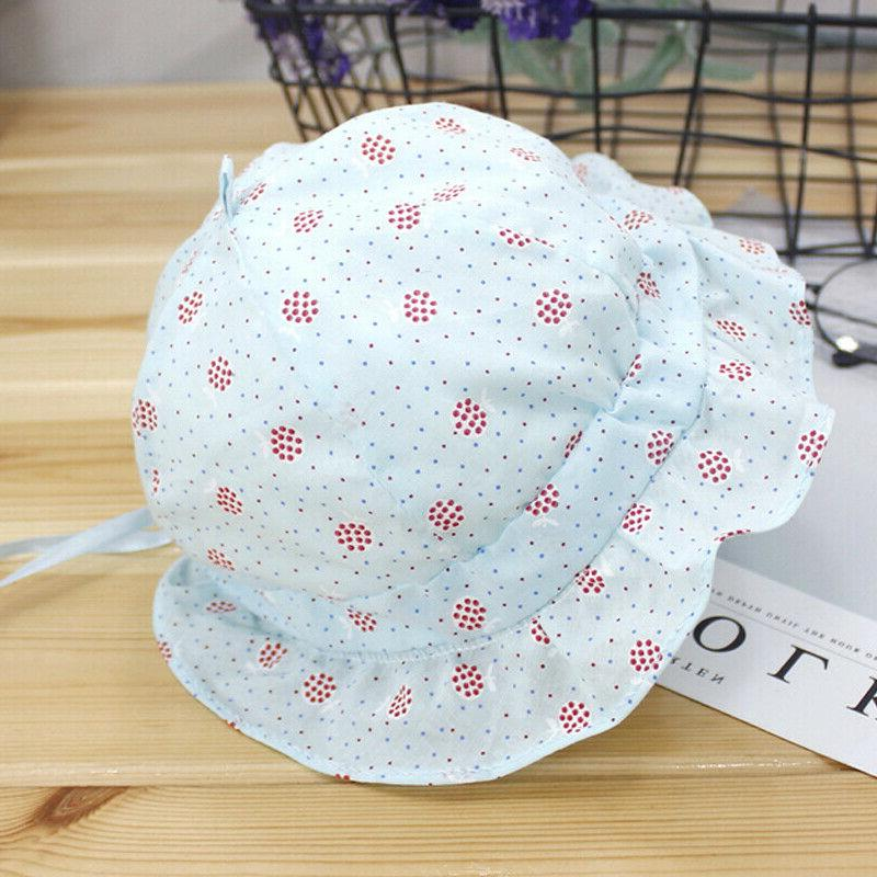 Baby Kids Floral Sun Hat Lace Princess Bonnet