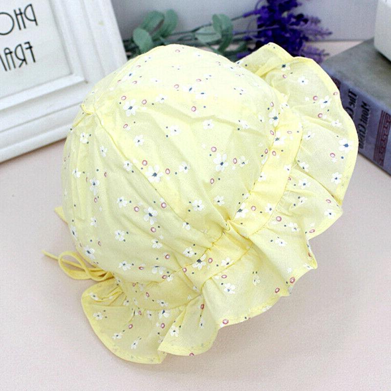Baby Floral Sun Hat Bucket Lace Outdoor Bonnet