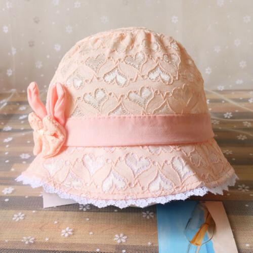 Baby Hollow Hat Princess Girls Cap Beach 3-18 months