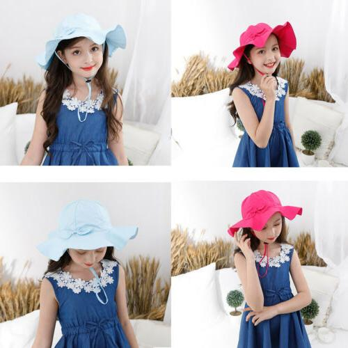US Toddler Kid Outdoor Sun Hat Brim Summer Hats Breathable Cap
