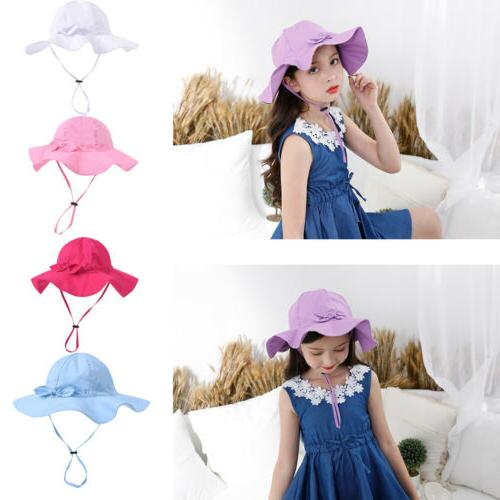 US Kid Girl Outdoor Hat Summer Bucket Breathable