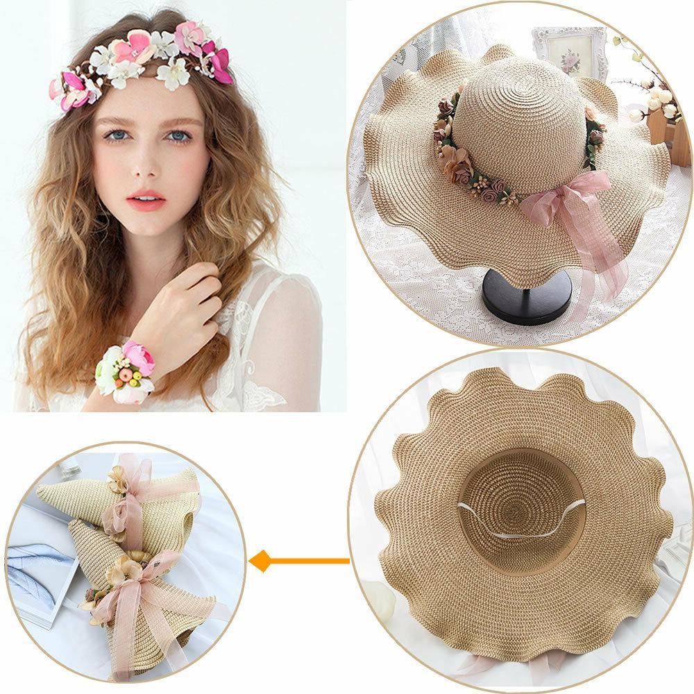 beach hats for girls straw brim women
