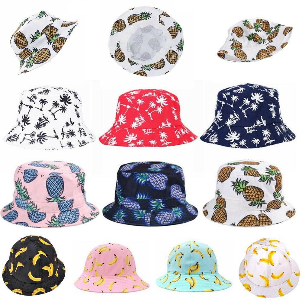 black bucket hat sun pineapple mens caps