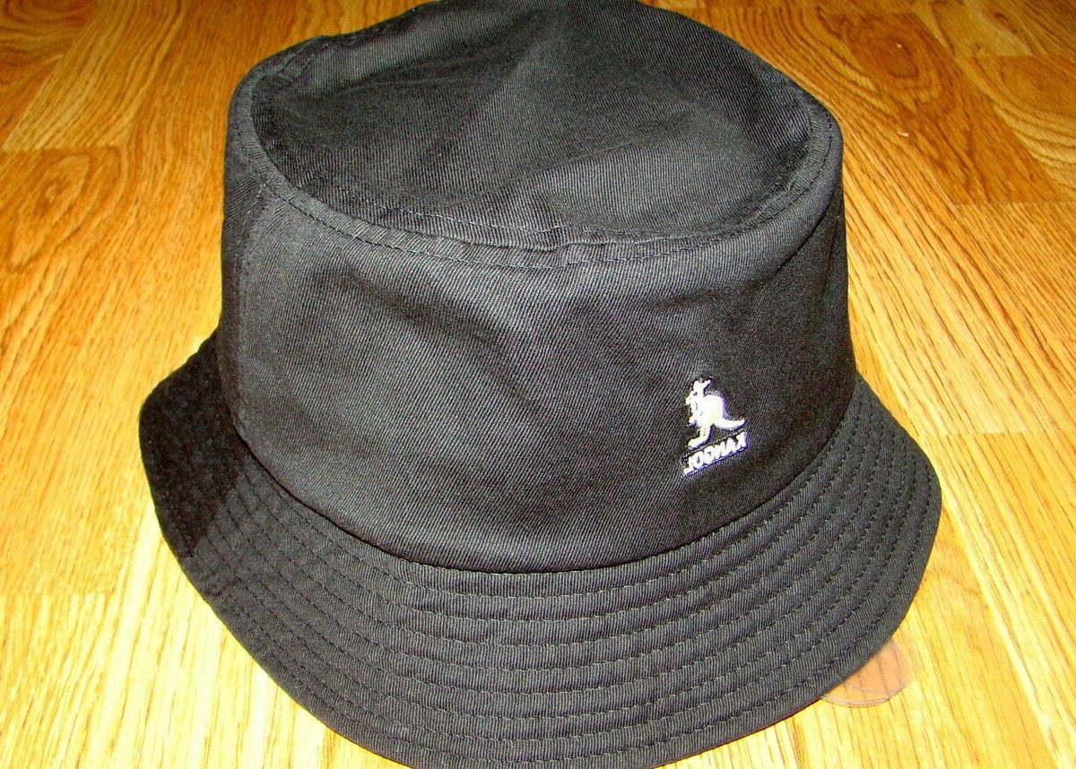 Mens Classic Kangol Washed Bucket Cap Color  Black