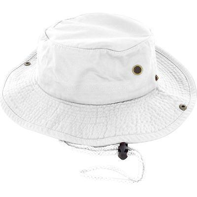 Boonie Bucket Hat Cap 100% Cotton Hunting Summer