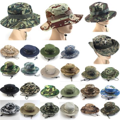 Men Women Bucket Outdoor Hiking Military Safari Cap
