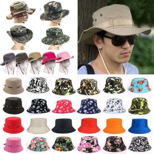 Men Boonie Bucket Hat Fishing Hiking Military Cap