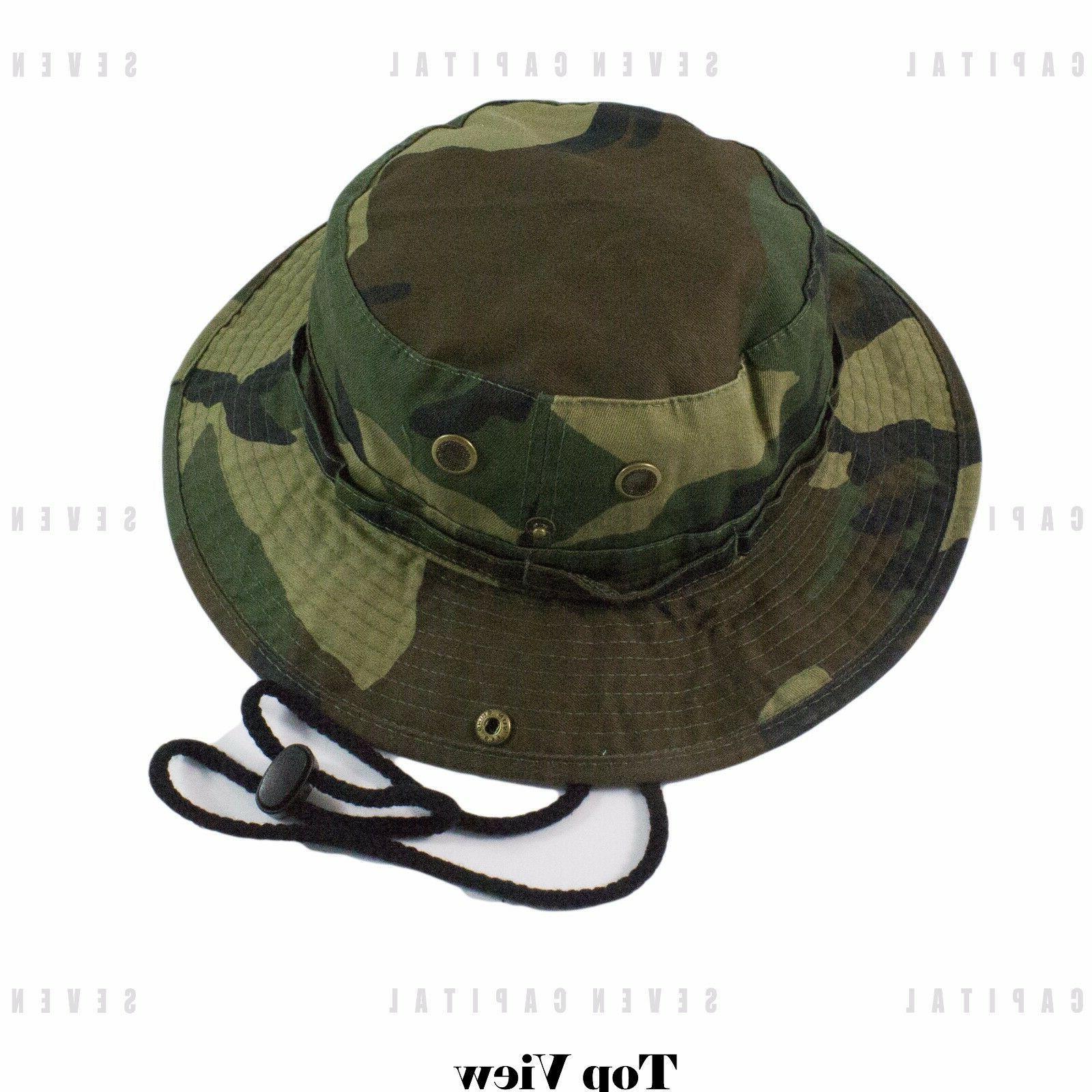 Boonie Bucket Hat Cap 100% Cotton Fishing Military Hunting Safari Summer