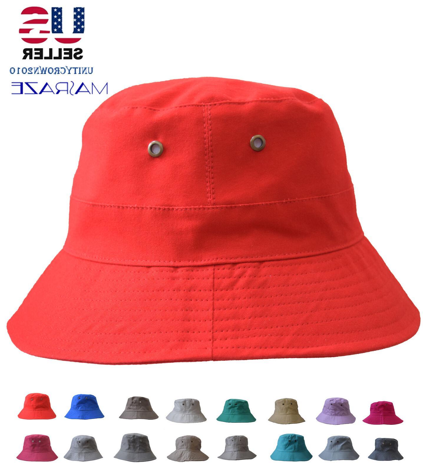 boonie bucket hat cap cotton fishing brim