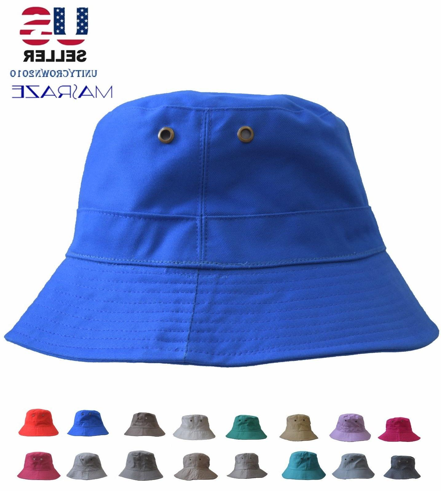 Boonie Bucket Hat Cap Cotton Fishing Brim visor Sun Safari S