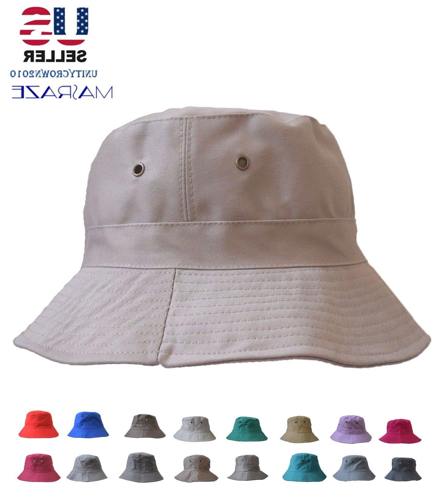 Boonie Bucket Hat Cap Cotton Fishing visor Sun Camping Masraze
