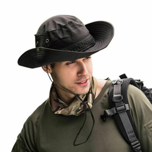 Boonie Fisherman Wide Brim Safari Cap Pure Sun Hats