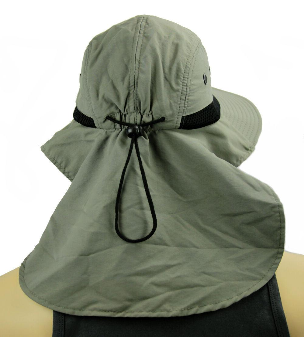 Boonie Cap Sun Bucket Ear Cover Protection material-Olive
