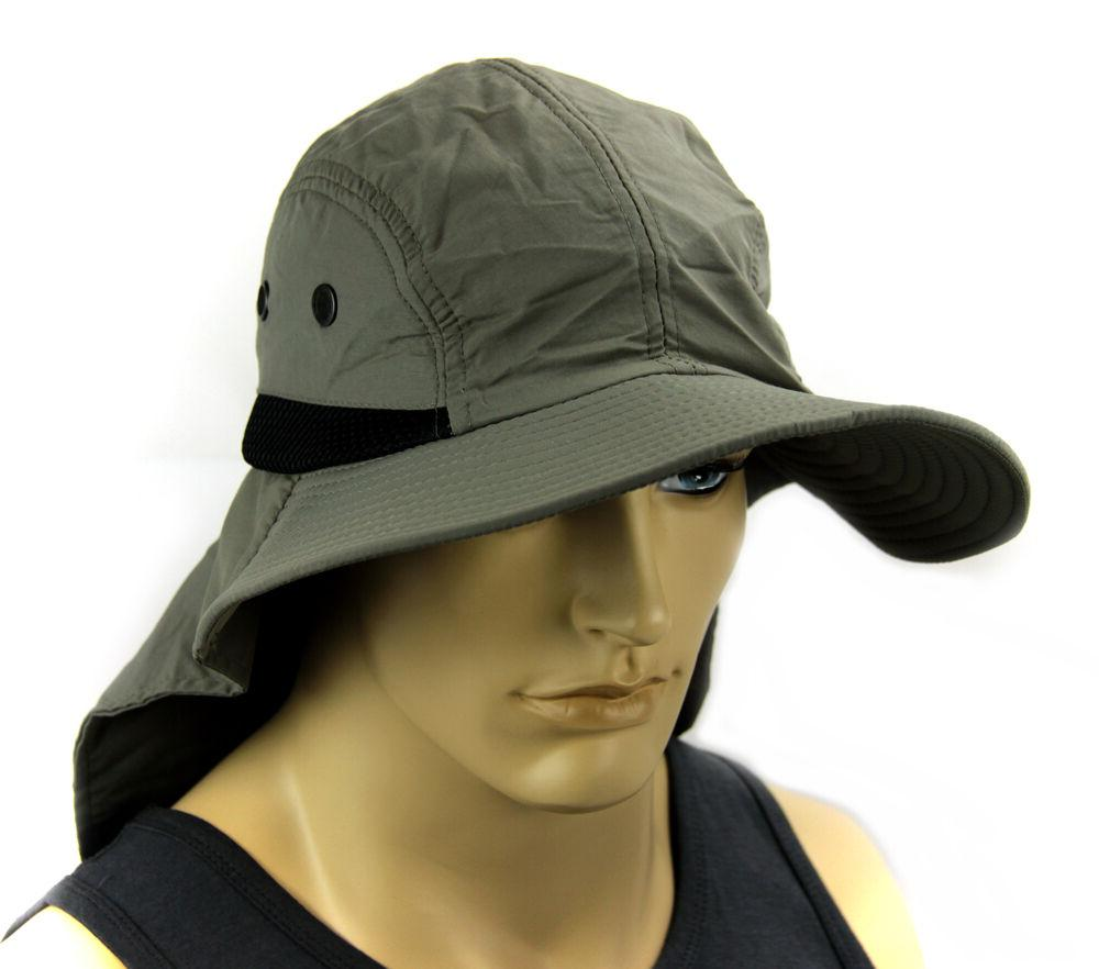 Boonie Bucket Ear Cover Sun Soft material-Olive