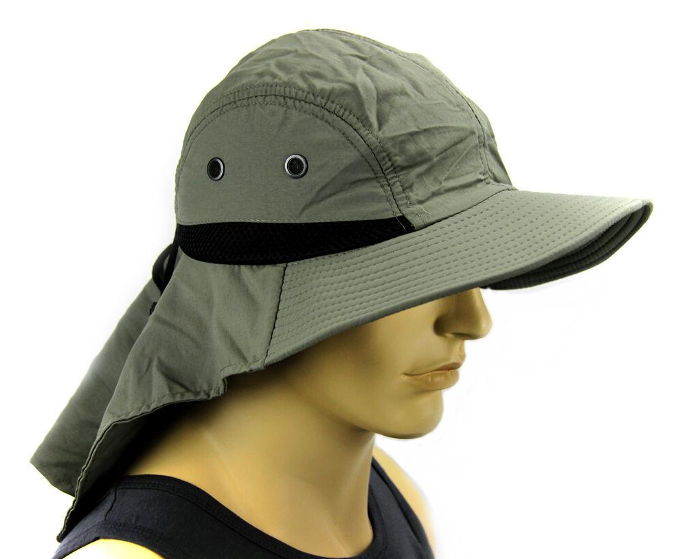 boonie cap sun flap bucket hat ear