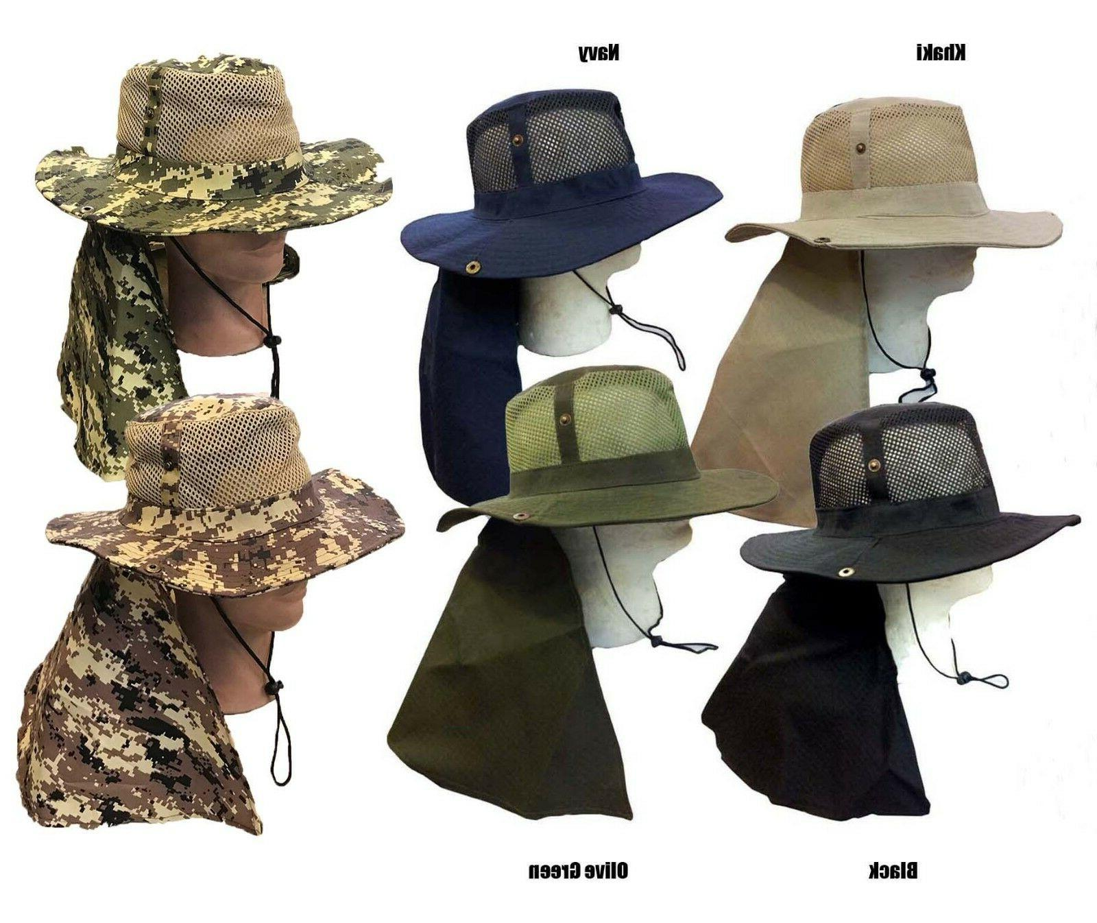 boonie fishing hiking army military long flap