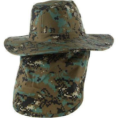 Boonie Army Military Snap Brim Neck Cover Flap Hat Cap