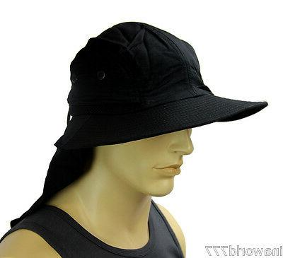 Boonie cap Flap hat Material - Black