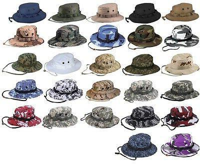 boonie hat military style wide brim bucket