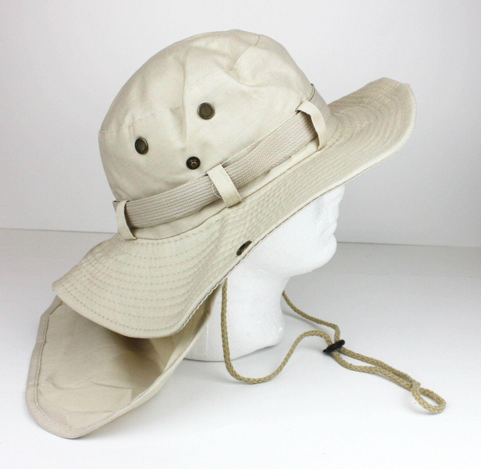 Boonie Neck Cover Hat Fishing Sun UV Summer Cap Men
