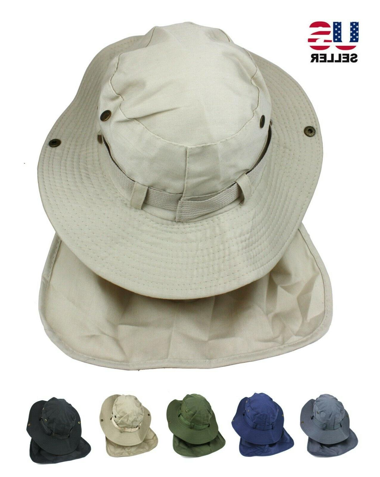 boonie neck flap cover hat fishing sun
