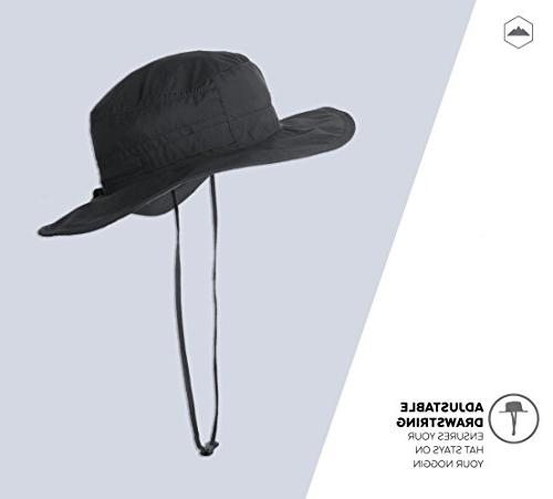 Boonie Safari Sun Hat for Men - 50 Protection Summer Waterproof for Fishing, Hiking, Wicking Keeps Cool