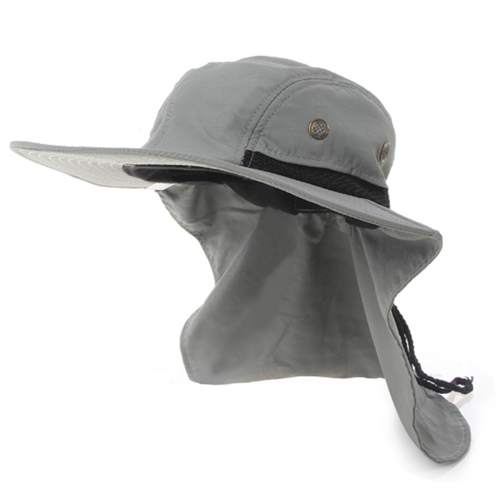 Men Brim Neck Cover Sun Flap Bucket