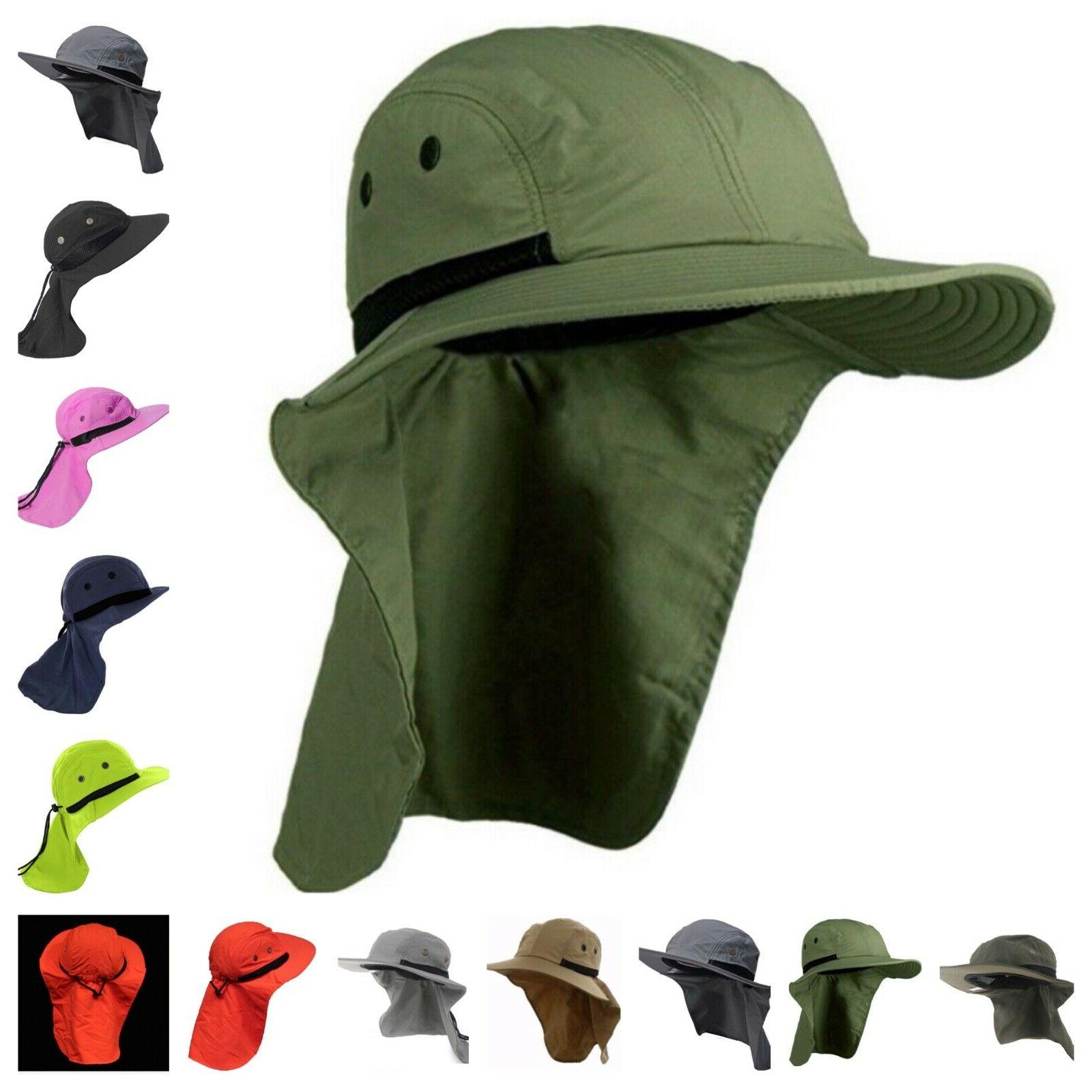 Boonie Hat Brim Ear Flap Cap Garden Fishing
