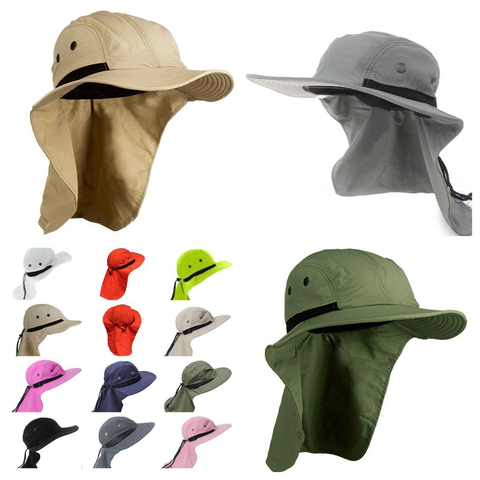 Boonie Ear Cover Sun Flap Cap Outdoor Hiking Garden Fishing