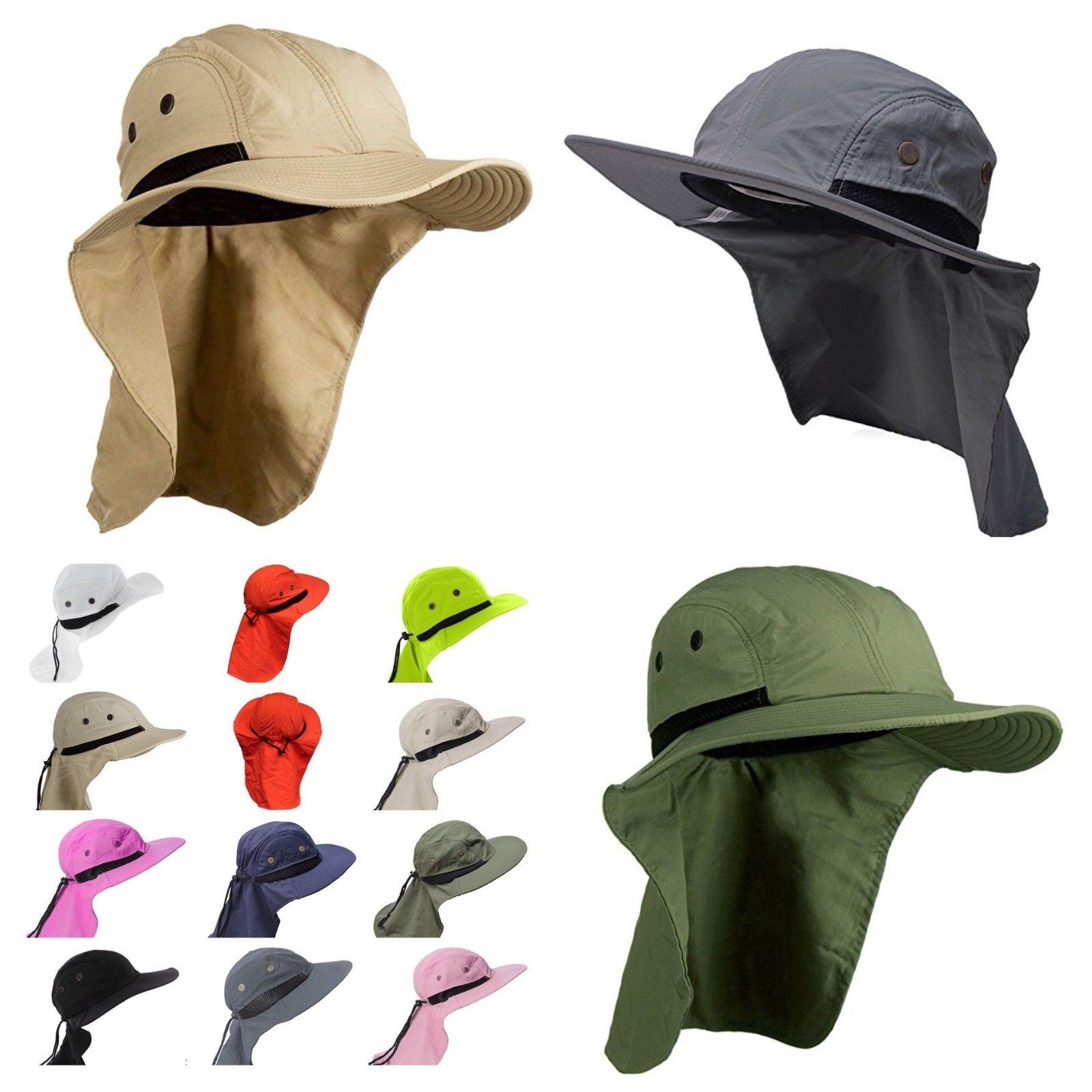 3f3b4460498 Boonie Snap Hat Brim Ear Neck Cover Sun Flap Cap Hunting Fis