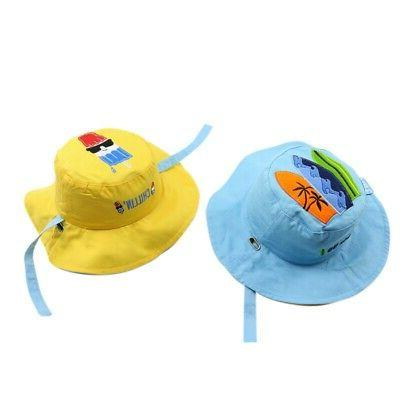 Boys Girls Letter Print Hats Caps Reversible