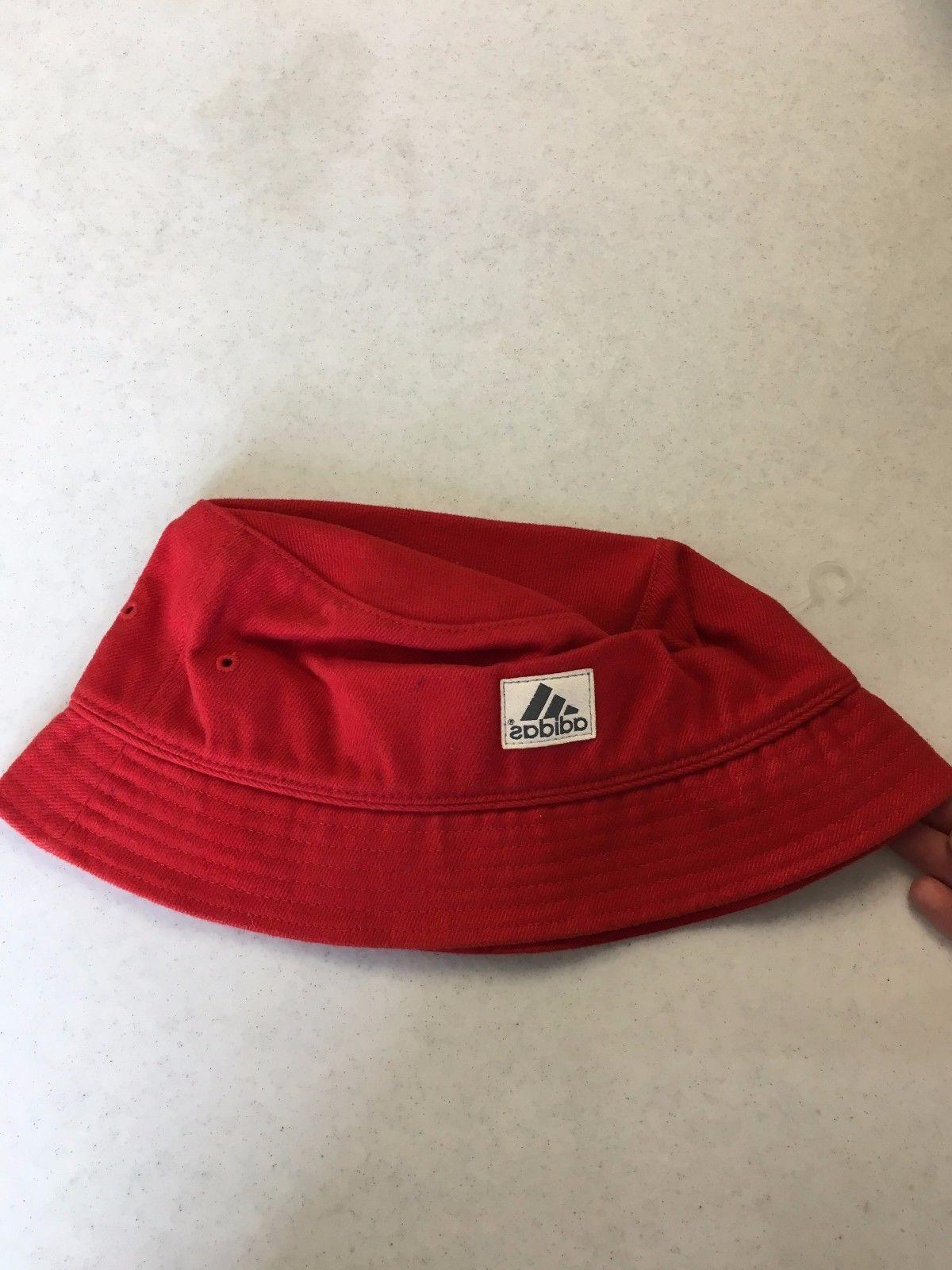 BRAND ADIDAS RED SQUARE HAT SMALL/MEDIUM