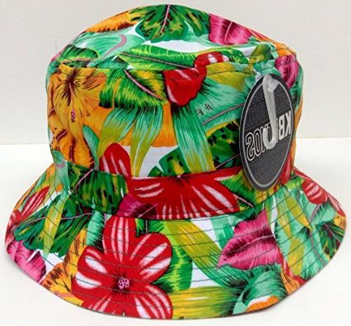 Bright Floral Hat Hawaiian