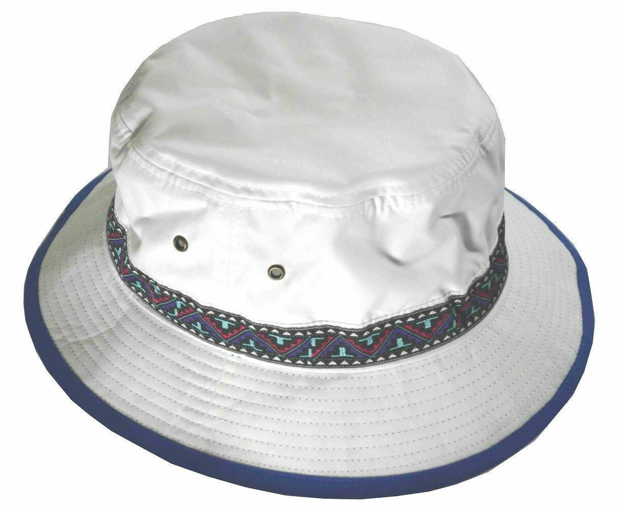 brushed microfiber bucket hat with jacquard decorative