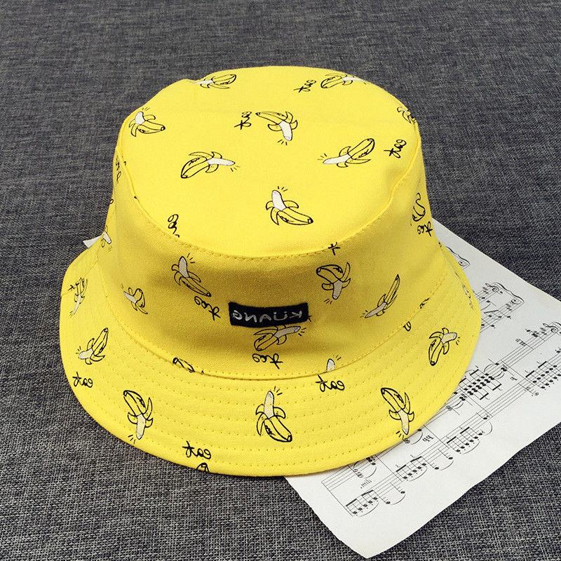 bucket cap man women unisex cotton banana