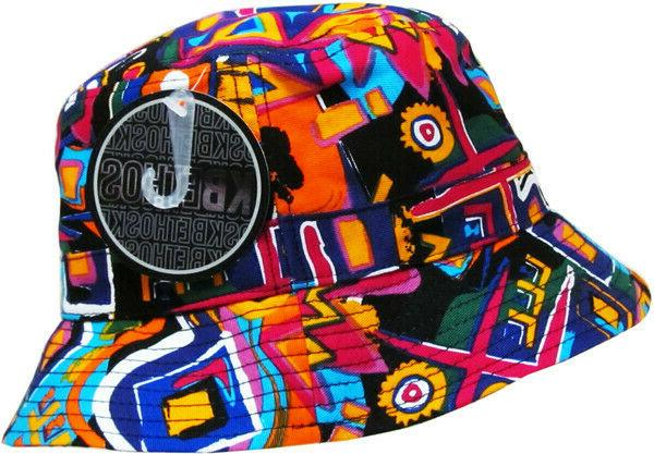 bucket fashion print hat cap unisex new