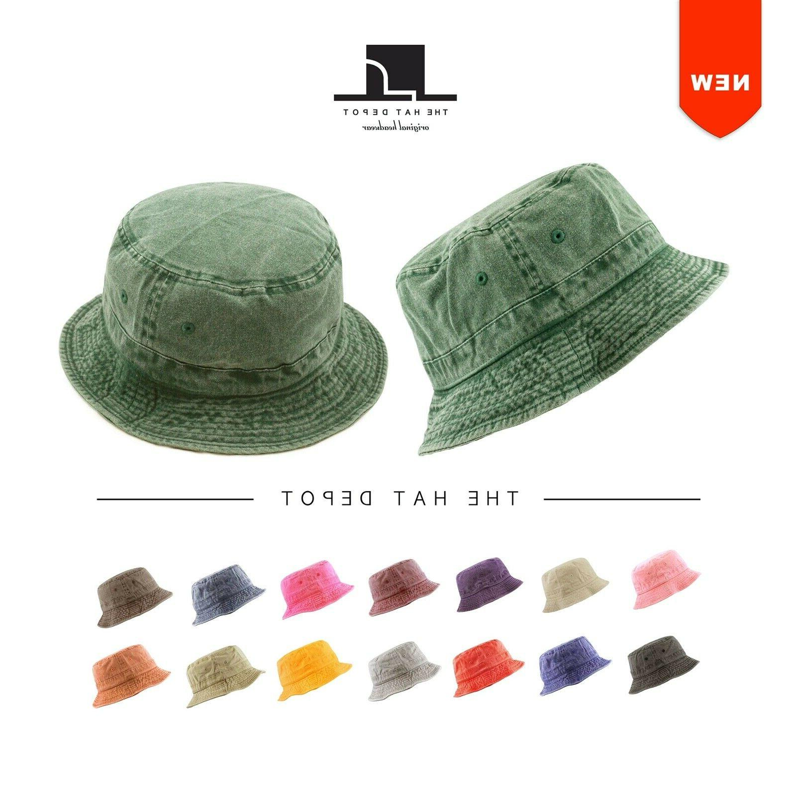 bucket hat 100 percent cotton pigment dyed