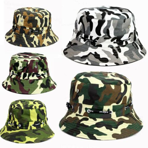 Men Boonie Hunting Fishing Bucket Hat Visor Wide Brim Cap Outdoor